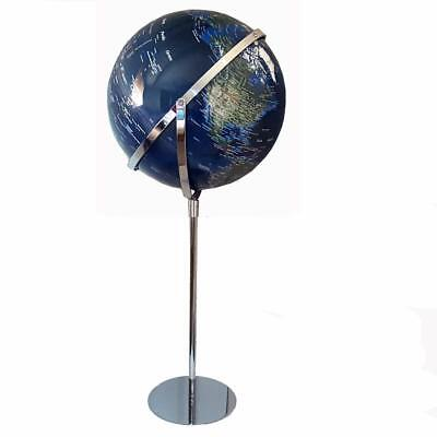 World Globe Clear Blue Embossed Raised Relief Educational Floor Standing Gift