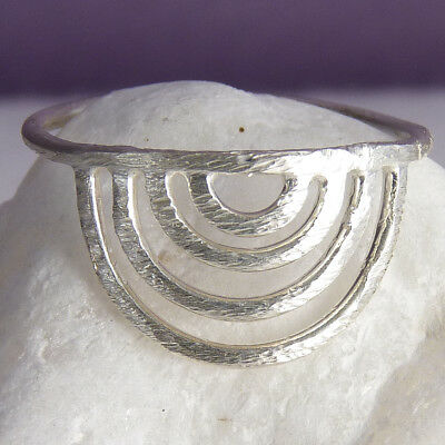 SILVER RAINBOW WISH Size US 8 1/2 SILVERSARI Ring Solid 925 Sterling Silver