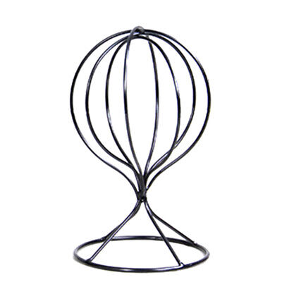BU_ Hollow Balloon Metal Wig Hairpiece Stand Tabletop Decorative Hat Holder Flow