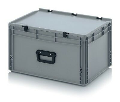 Euro Containers 60x40x33, 5 with Grip and Lid Stacking Eurobox 600x400x335