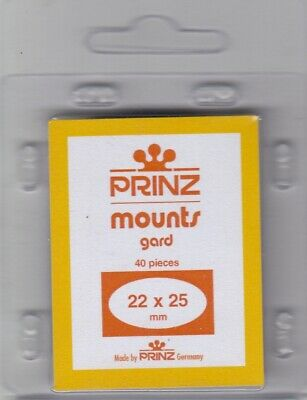 Prinz / Scott Stamp Mounts 22x25 mm 40 Clear For Regular US Post Issues Vertical