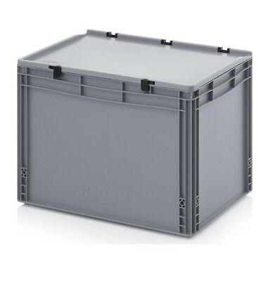 Plastic Box 60x40x43, 5 Storage Box Stacking Crates Campingbox Lid Plastic