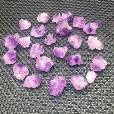 Natural Amethyst Crystal Quartz Cluster Point Seed Energy Reiki Gemstone Healing