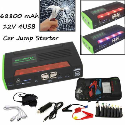 AU Multi-function Emergency 68800mAh Jump Starter Car Auto Power Bank For Laptop