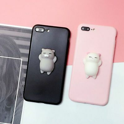Squishy 3D cute Anti Stress Lazy Kitty Cat Soft Phone Case skin Cover For Huawei