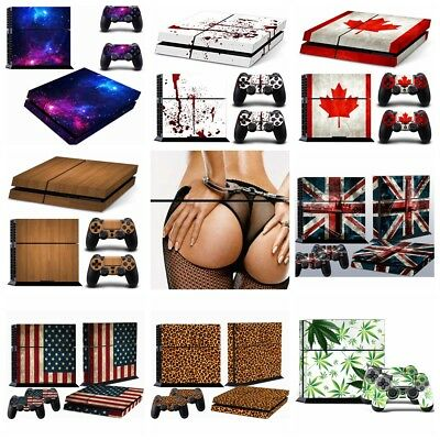For PS4 PlayStation 4 Console Controllers Decal Skin Stickers Protector Cover UK