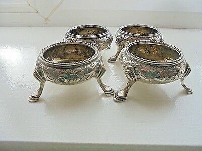 Set of Four Silver Plated Open Salts