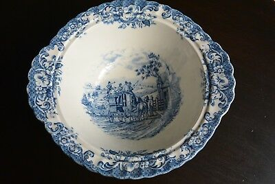Lovely Johnson Brother Staffordshir Hand engraved Coaching Scenes serving Bowl