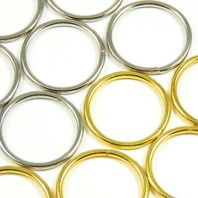 25mm 1 inch Gold/Chrome O-Ring for Straps Belts Bag Making Leathercraft