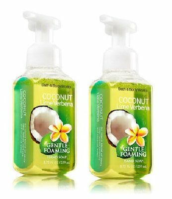 Bath And Body Works Gentle Foaming Hand Soap, Coconut Lime Verbena 8.75 Ounce...