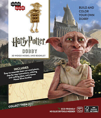 IncrediBuilds Harry Potter Dobby BNIB 3D Wood Model and Booklet