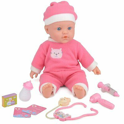 Baby Doll Doctor Playset Kids Pretend Play Toy Lifelike Sounds Medical ToyStar