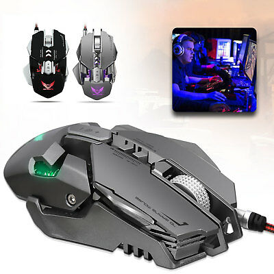 Mechanical Wired Gaming Mouse Adjustable 4000DPI 7 Buttons LED Optical Mice