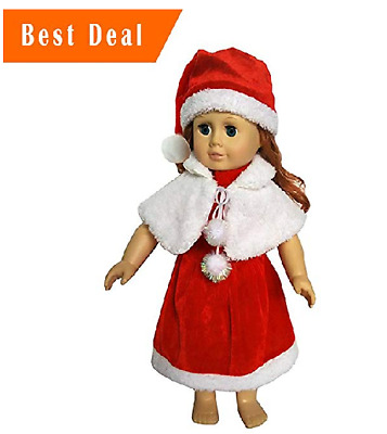American Doll Clothes Christmas Costume 3 Piece For 18 Inch Girl Dolls Present