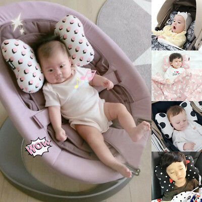 Newborn Baby Infant Cotton Pillow Positioner Prevent Flat Head Anti Roll AU
