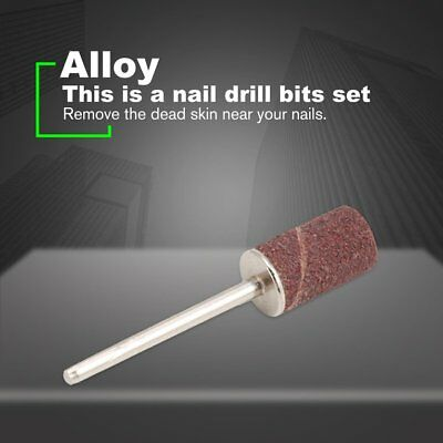 6 Styles Nail Drill Set 6PCS Sanding Bands Electric Cutting Rotary Accessory AOA