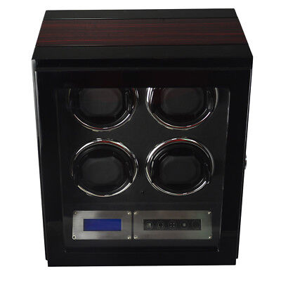 watch winder - Quadruple watch luxury finishing with LED light + remote control