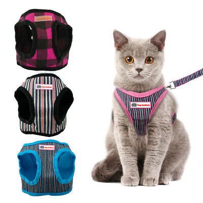 Soft Pet Puppy Cat Harness and Lead Set For Small Dogs Kitten Walking Vest S-XL