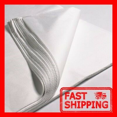 50 x SHEETS OF WHITE TISSUE WRAPPING PAPER SIZE 450 X 700MM 18 X 28""