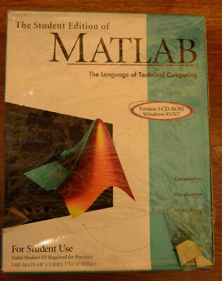 The Student Edition of MATLAB Version 5 CD ROM Windows 95/NT