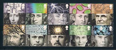 Gb 2010 The Royal Society Mnh Set Of 10 Stamps