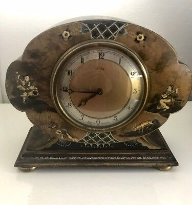 Antique Chinoiserie Mantel Clock by Smiths
