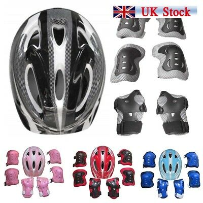 7pcs Kids Protective Swegway Gear Safety Helmet Children Knee Elbow Pad Set UK