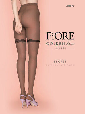 494be66cb02d82 FIORE Secret Luxury Super Fine 20 Denier Decorative Butterfly Patterned  Tights