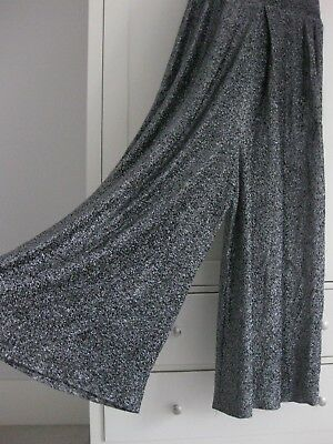 Vintage 1970s Loll Ease Silver Metallic Halter Neck Jumpsuit Size Medium