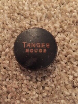 "Vintage Tangee Rouge Tin 1 1/8"" Round, Empty, packed by George W. Luft Co. NY,NY"