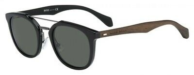0106249a1e NEW Hugo Boss BHB 0777 Sunglasses 0RAJ Black Dark Brown 100% AUTHENTIC