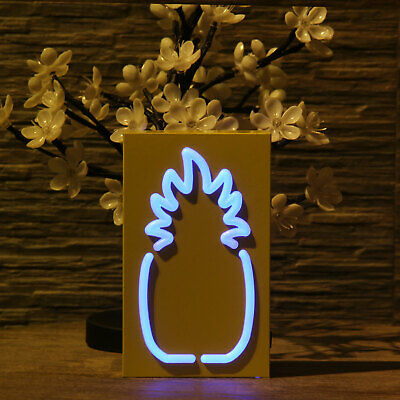 LED Lights Christmas Xmas Shaped Night String Table Lamp Decorative Pineapple