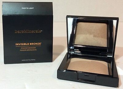 BAREMINERALS INVISIBLE BRONZE POWDER BRONZER IN FAIR TO LIGHT. Brand New In Box