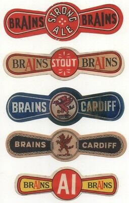 Old Beer Label / S - Brain's  -  (A)