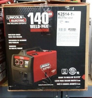 Lincoln Electric Weld-Pak 140HD Wire Feed Welder K2514-1 In Box