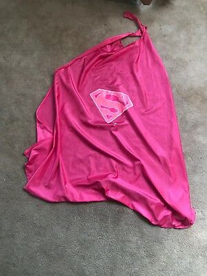 DC Superhero- Pink SuperGirl Cape - OSFM Six Flags HALLOWEEN COSTUME