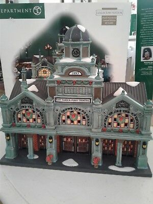"Dept 56 Christmas in the City "" East Harbor Ferry Terminal"" Limited Edition"