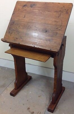 Antique Library Reading Desk / Lectern Made From Oak