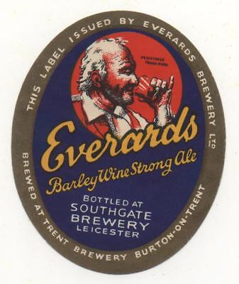 OLD BEER LABEL / S - EVERARDS  -  (A) - 69mm TALL