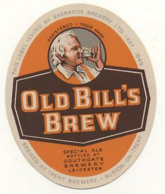 OLD BEER LABEL / S - EVERARDS  -  (D) - 71mm TALL