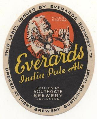 OLD BEER LABEL / S - EVERARDS  -  (F) - 70mm TALL