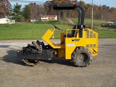 """Stone Pd54 54"""" Single Drum Padfoot Roller, Ford 4 Cyl Diesel"""