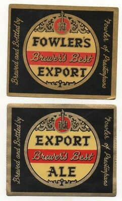 Old Beer Label / S - Fowler -  (A)