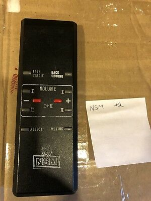 Nsm Jukebox Remote Control Untested #2