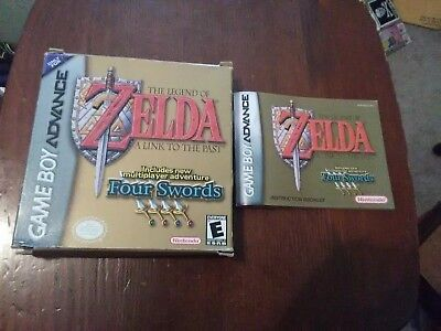 Legend Of Zelda A Link To The Past Four Swords Nintendo Game Boy Advance GBA Box
