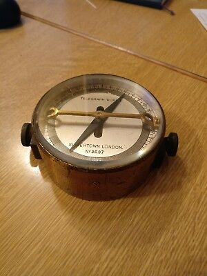 Antique telegraph works Meter Galvanometer Scientific, Silverton London, vintage