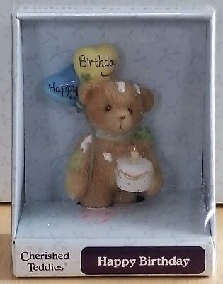 VERY RARE NEW Cherished Teddies - Happy Birthday - 116469