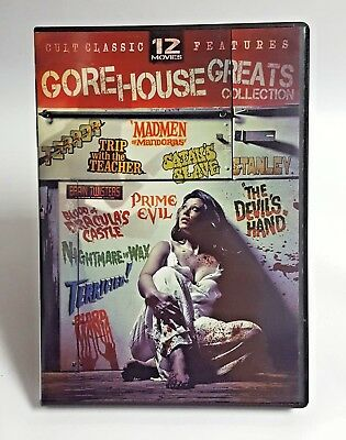 The Gorehouse Greats Collection Cult Classic 12 Movies Features DVD 3-Disc Set