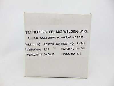 Stainless Steel Mig Welding Wire BR309L A5.9:ER 309L, 2lbs