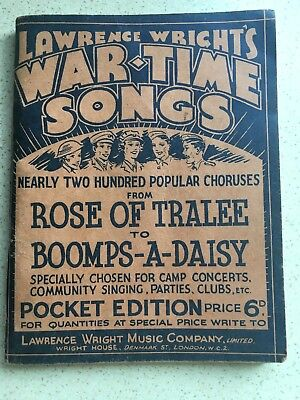 Vintage War Time Songs Book (Reduced)